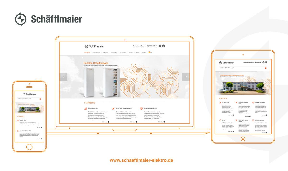 Mockup der neuen Website